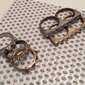 Jewelry - 5 spiked rings